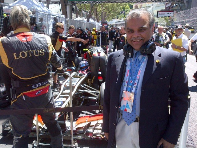Mansoor Ijaz at the Monaco GP